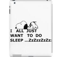 snoopy sleep iPad Case/Skin