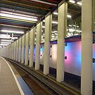 Metro rails at Rotterdam by bubblehex08