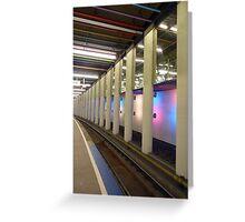 Metro rails at Rotterdam Greeting Card