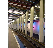 Metro rails at Rotterdam Photographic Print
