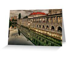 City Center Ljubljana, Slovenia Greeting Card