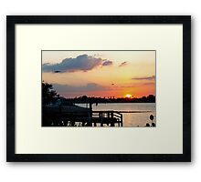 At dock Framed Print