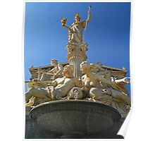 Athena Fountain at The Austrian Parliament. Poster