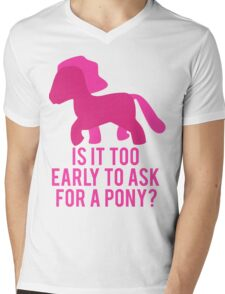 Baby Wants Pony Mens V-Neck T-Shirt