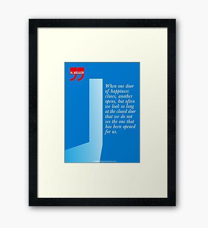 The Door Of Happiness (Helen Keller Quote) Framed Print