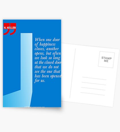 The Door Of Happiness (Helen Keller Quote) Postcards
