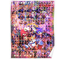 The Original Sonic Heros Poster