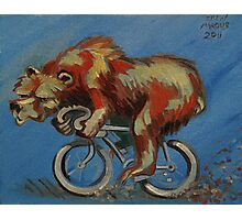 Grizzly on a Bicycle Photographic Print