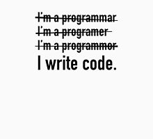 I Write Code. Unisex T-Shirt
