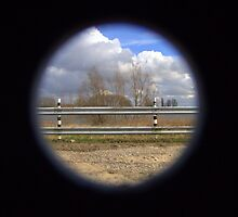 Shooting through a hole II by Hans Bax