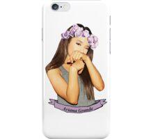 Ariana Grande flower crown iPhone Case/Skin