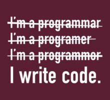 I Write Code. by AmazingVision