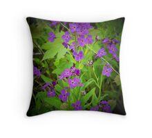 Purple Essence - Wild Flowers Throw Pillow
