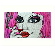 smoker face  Art Print