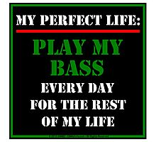 My Perfect Life: Play My Bass Photographic Print