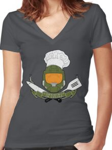Masterchef Crest Women's Fitted V-Neck T-Shirt