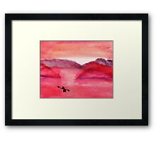 Early Morning Fishing Trip, watercolor Framed Print
