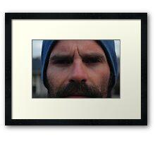 Blue Hat Framed Print