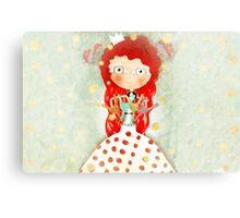 Red hair mushroom doll and company Canvas Print