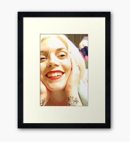 Angel's Smile Framed Print