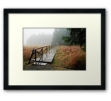 Rainy day in Siegmundsburg (Thuringia, Germany) Framed Print