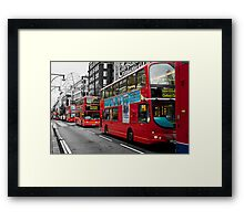 The Red Red Bus Framed Print