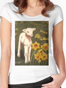 Little Lamb who made thee? Women's Fitted Scoop T-Shirt