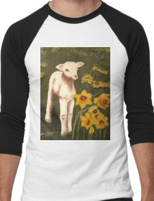 Little Lamb who made thee? Men's Baseball ¾ T-Shirt