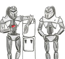 Cylon Centurions at the watercooler by 2dollarsidekick