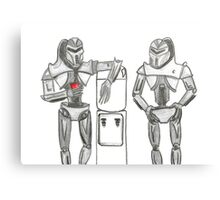 Cylon Centurions at the watercooler Canvas Print