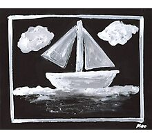 The Simpsons Inspired Sailboat Photographic Print