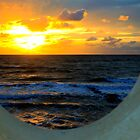 Framed Coastal Sunset by John Hare