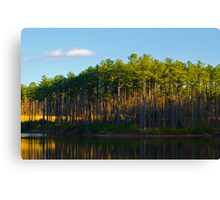 Sunset Lake West Cary Canvas Print