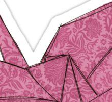 Pink crane Sticker