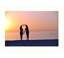 Heart Silhouette Art Print