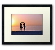 Heart Silhouette Framed Print