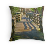 Boardwalk Thru The Park Throw Pillow