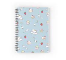 Afternoon Tea Pattern Spiral Notebook