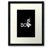 BOO - It's a Snowman! Framed Print