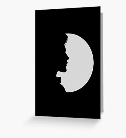 eleventh doctor shadow Greeting Card