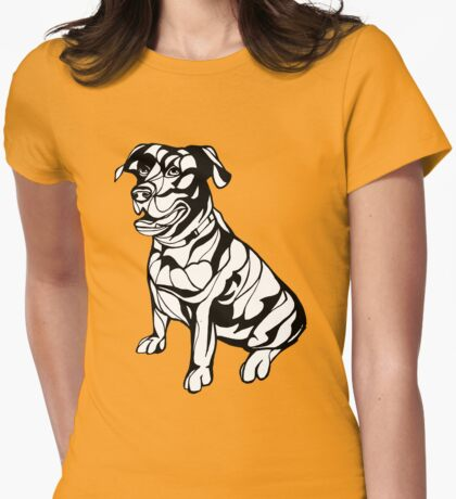 Sharpie Dogs: Labrador Retriever Womens Fitted T-Shirt