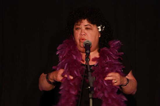 "Kehau performing in ""Three Stuffed Mums"" by Glynn Jackson"