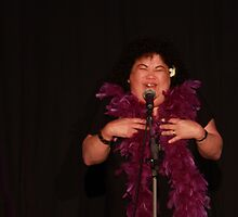 "Kehau performing in ""Three Stuffed Mums"" 2 by Glynn Jackson"