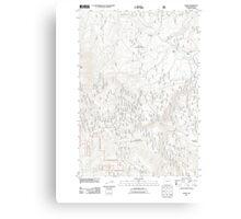 USGS Topo Map Oregon Bates 20110817 TM Canvas Print