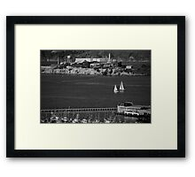 Alcatraz Island San Francisco Bay Framed Print