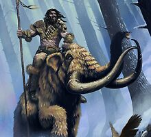Frost Giant on Mammoth by DeanSpencerArt