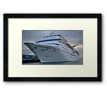 Imagination- Carnival Cruise Ship Framed Print