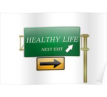 healthy life concept Poster
