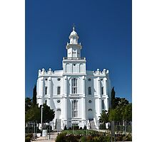 St. George Utah LDS Temple Photographic Print