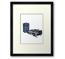 Dr Who Vs Back To the Future Framed Print